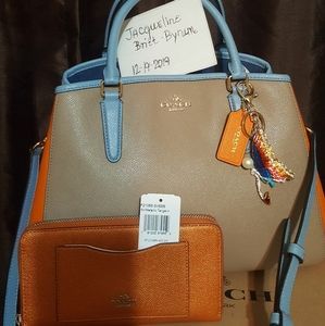 Coach Margot bag and matching full sized wallet